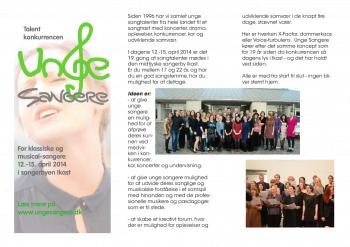 Brochure 2014 Unge Sangere
